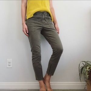 Madewell Green Ankle Skinny Fatigue Pants